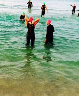 After throwing our bracelets into the ocean and JUST before the cannon went off!